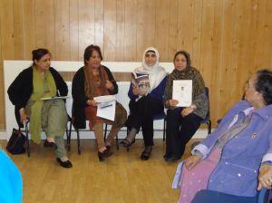 ALAG members Kamaljit Bedi, Aruna Shah, Monna Rizvi and Gulshan Iqbal lead the discussion