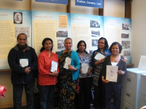 Members of the Kingston Tamil Elder's Group with their copies of the ALAG translated synopsis
